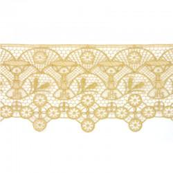 Pizzo per altare in tessuto lamè oro lucido 15 cm