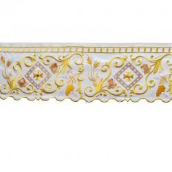 Bordo per altare ornato spighe e uva 15 cm