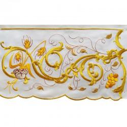 Bordo per altare ornato pani e uva 20 cm