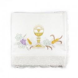 Tovaglia per Altare con Calice e Ricami Liturgici in diverse misure