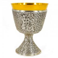 Calice Quattro Evangelisti cesellato a mano 15,5 cm