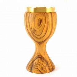 Calice in legno di ulivo liscio 20 cm