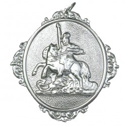 Confraternity Medallion St. George 12x14 cm