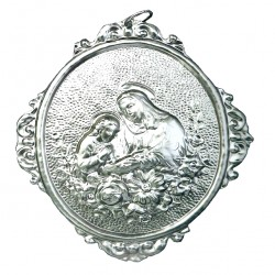 Confraternity Medallion St. Anne with Flowers 10x14 cm