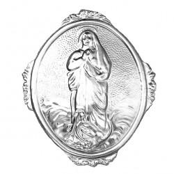 Confraternity Medallion Assumpted Virgin 9.5x12 cm