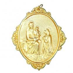 Confraternity Medallion Praying Virgin 12x14 cm
