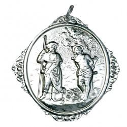 Confraternity Medallion St. Rocco and St. Sebastian 12x14 cm