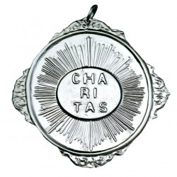 Confraternity Medallion Caritas with Rays 12x14 cm