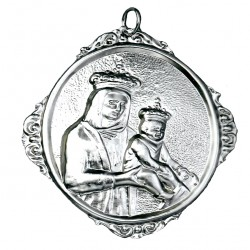 Confraternity Medallion Virgin with Child 12x14 cm
