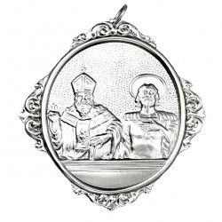 Confraternity Medallion St. Gregory and St. Nardo 12x14 cm