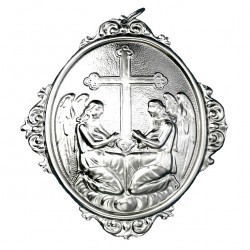Confraternity Medallion Angels with Cross 12x14 cm