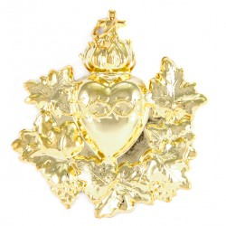 Confraternity Medallion Sacred Heart Garland D 10x11 cm