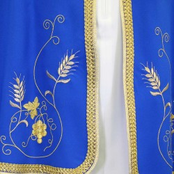 Polyester Confraternity Cape with Emblem and Embroidery