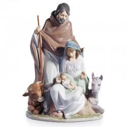 Statua Natività con animali in porcellana lucida 38 cm Lladrò