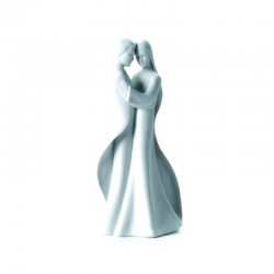 Statua Sposi in porcellana 27x12 cm