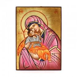 Icona Madonna della Dolcezza dipinta a mano 10x14 cm