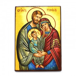 Holy Family-F Hand painted icon 10x14 cm