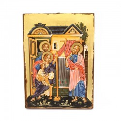 Icon of Saint Paul, Aquila and Priscilla hand painted 22x30 cm