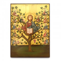 Hand painted Tree of Life icon 22x30 cm
