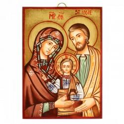 Icona Sacra Famiglia-A dipinta a mano 10x14 cm