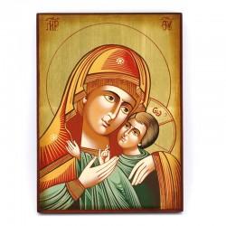Icona Madonna di Korsun dipinta a mano 22x30 cm