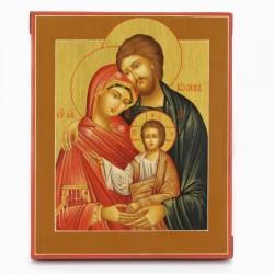 Icona russa Sacra Famiglia dipinta a mano 22x27 cm