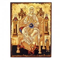 Icona greca della Paternità serigrafata 30x40 cm