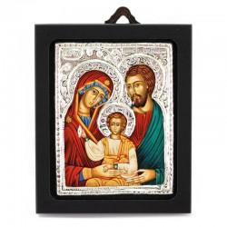 Icona Sacra Famiglia con argento 925° 6,5x8 cm