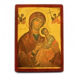 Icona Madonna del Perpetuo Soccorso stampa su legno 16x22 cm