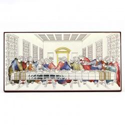 Quadro Ultima Cena allumino colorato 15x8 cm