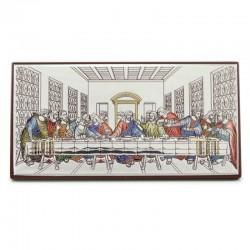 Quadro Ultima Cena allumino colorato 9,5x5 cm