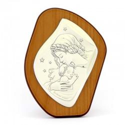 Quadro sagomato Madonna con Bambino 11x15 cm