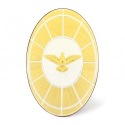 Two-tone laminated Holy Spirit Picture 22x32 cm