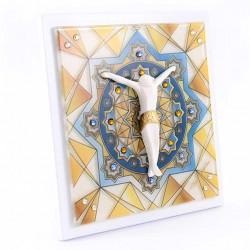 Image Cross Mosaic and Rhinestones 13.5x13.5 cm