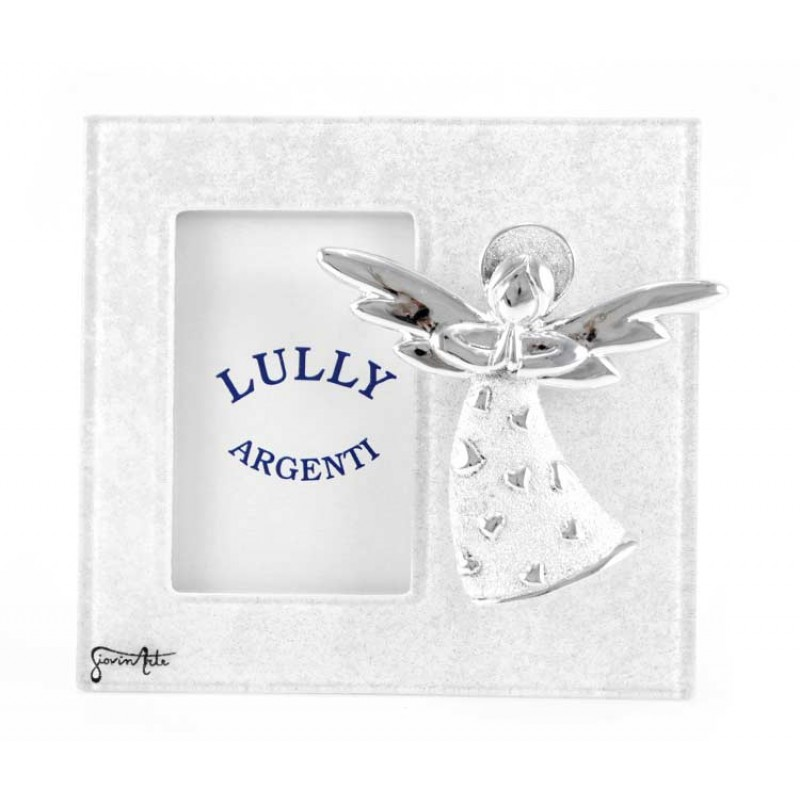 Murano Glass Photo Frame with Angel 13x12 cm