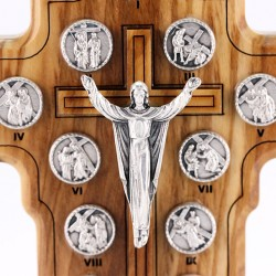 Olive Wood Image Way of the Cross 14 cm