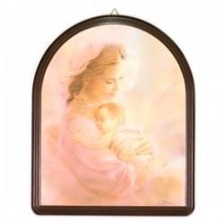 Quadro in legno Maternità rosa 22x27 cm