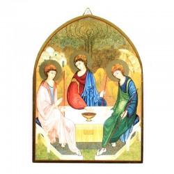 Quadretto Santissima Trinità legno cupola 10,6x14,5 cm