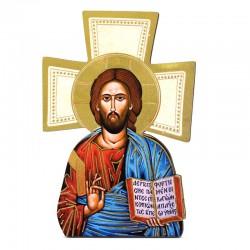 Quadretto Croce Cristo libro aperto 9,5x14 cm