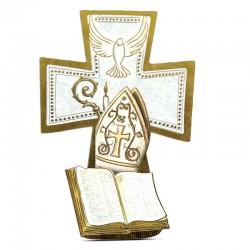 Quadretto Croce Cresima 9,5x14 cm