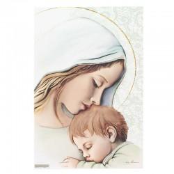 Quadro Maternità in legno colorato 23x33 cm
