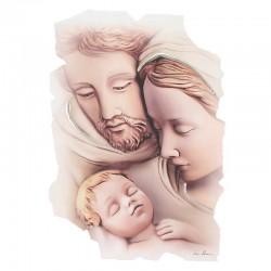 Quadro frammento Sacra Famiglia primo piano 23x33 cm