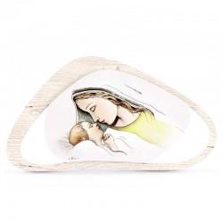 Quadretto Maternità in legno 16x8 cm