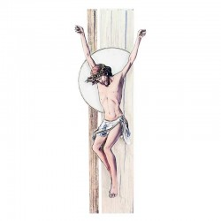 Quadro Cristo stilizzato colorazione A 14x41 cm