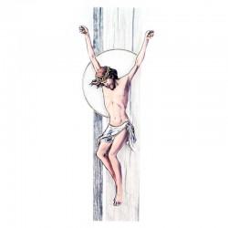 Quadro Cristo stilizzato colorazione B 14x41 cm