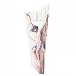 Quadro Cristo stilizzato colorazione A 16x45 cm