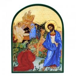 Quadretto Resurrezione legno cupola 11x15 cm