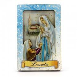 Quadretto calamita Madonna di Lourdes 4x6 cm