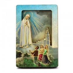 Quadretto calamita Madonna di Fatima 4x6 cm