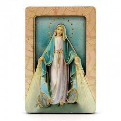 Quadretto calamita Madonna Miracolosa 4x6 cm